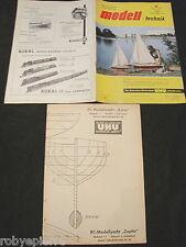 RIVISTA MODELLISMO 1960 MODELL TECHNIK CON PROGETTO 1:1 Zephir RC-Modellyacht