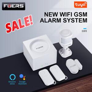 FUERS Smart  Wireless Alarm WIFI GSM Security Tuya APP Control Alarm System Lot