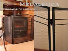 FIREPLACE ACCESSORIES Firescreens *MELALEUCA 3 panel fire screen *Free Shipping