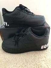 NIKE AIR FORCE 1 LOW CMFT EQUALITY MEN'S SZ 8.5 BLACK WHITE AQ2125 001