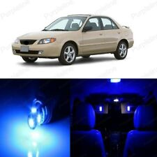9 x Blue LED Interior Light Package For Mazda Protege 1999 - 2003 + PRY TOOL