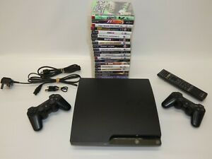 Playstation 3 PS3 Console & 20 Games, 2 Controllers, Remote control, Cables