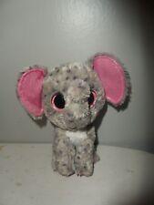 "Ty Beanie Boos Specks Elephant Plush Stuffed Toy pink Glitter Eyes 6"""