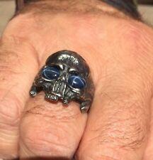 Biker Scull Masonic Silver Ring Great Gift