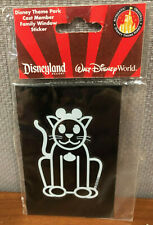 Disneyland Theme Park Cast Member Family Window Sticker - Cat Disney