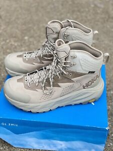 Hoka One One Kaha GTX Men's Size 10.5 Dune/oxford Tan Hiking