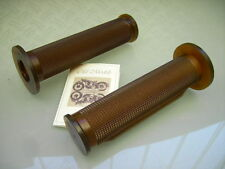 OLD SCHOOL CAFE RACER CLASSIC BRAUNE GRIFFE SR 500 XS 650 HANDLE BAR GRIPS BROWN