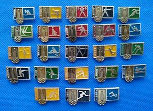 1980 Pin Badge XXII Olympic Games Moscow Soviet 23 pcs Judo Boxing Sport USSR