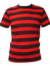 Camisetas de hombre de manga corta en rojo 100% algodón