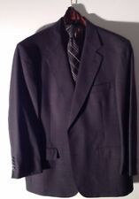 Brooks Brothers Mens Suit 44R Gray Glen Check 2btn Flat Front Fully Lined