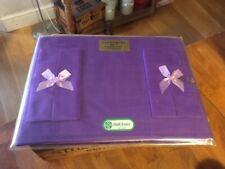 Vintage Irish Linen Luncheon Set – Purple Table mats & Napkins – Retro! –