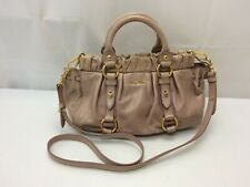 Auth Miu Miu Leather 2 way Shoulder Hand bag 8L180060n""