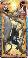 Childrens Pirate Role Play Weapon Set Pistol Hook Sword Dagger Telescope 8244