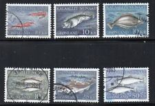 Greenland Sc 136-41 1981-86 Fish stamp set used