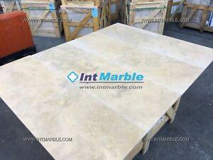 Travertine, Ivory Premium Honed / Filled Travertine Floor/Wall Sample 100x100mm