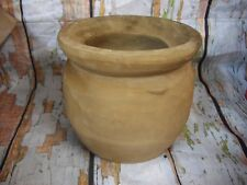 "WOOD BOWL VASE 8"" ROUND HANDMADE BROWN"