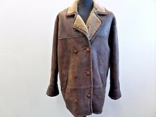 "Front Line Women Leather Sheepskin Shearling Coat Brown 36 42"" Grade A W662"