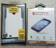 Otterbox Commuter Series Case for Samsung Galaxy S4 w/Zagg Invisible Shield NEW