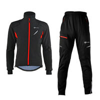 ROCKBROS Cycling Thermal Warm Windproof Winter Suits Cycling Jersey&Pants Black