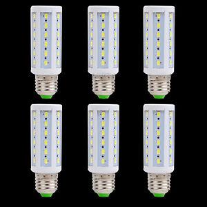 [6PCS]9W E26 E27 Base Socket LED Corn Light Lamp Bulb Camp Home DC12V Cold White
