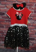 NWT Disney Minnie Mouse Sequin Dress Halloween Costume Girls Large 10/12