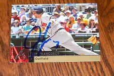 JEFF FRANCOEUR SIGNED AUTOGRAPHED 2009 UPPER DECK CARD # 26 ATLANTA BRAVES