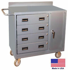 Cabinet Cart Portable - Commercial - Locking Cabinet & Drawers - 34H x 36W x 21D