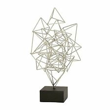 Benzara Abstract Metal Silver Sculpture 56870 New