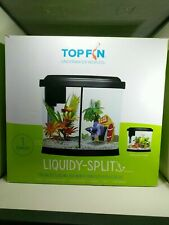 Top Fin Underwater World Liquidy-split 1 Gallon Aquarium Tank W/Filter Brand New