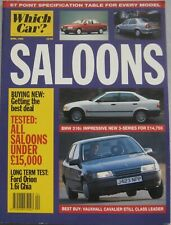 Which Car? magazine April 1992 Saloons