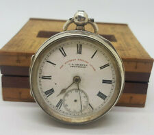 ANTIQUE J.G.GRAVES SOLID SILVER POCKET WATCH 52 MM. SPARE ONLY NOT WORK