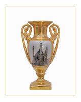 9973519-dss Zweihenklige Porzellan Vase mit Deckel Deckelvase H35cm neu