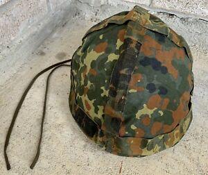Original German Army Surplus Flecktarn Camo Helmet Cover Snow Reversible Airsoft