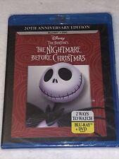 NIGHTMARE BEFORE CHRISTMAS Tim Burton (Blu-ray, 1993) 20th Anniversary, OOP, NEW