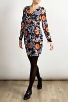 JOHN LEWIS Alice Temperley Abstract Print Long Sleeve V Neck Dress RRP £130