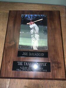 Joe DiMaggio The Yankee Clipper 10x12 Plaque New York Yankees Signed /5000 RARE