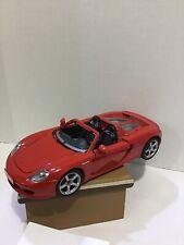 Maisto PORSCHE BOXTER 1/16? Scale Red Metallic  Toy -Cabrio Car B1/A
