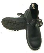Blundstone 163 Black Leather Steel Toe Slip On Station Chelsea Safety Boots US 8
