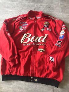 Vintage Dale Earnhardt NASCAR Red Jacket Bud King of Beers Men's XXXL 3x
