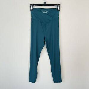 Aerie American Eagle Crossover Leggings Forrest Green 7/8 Length Size XS Tik Tok