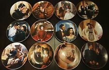 """NEW 12 pc GONE WITH THE WIND """"Critic's Choice"""" Collector Plate Set w/COA"""