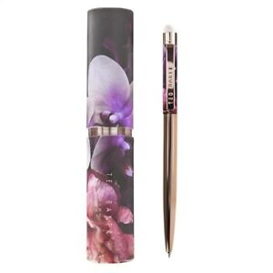Ted Baker Pen Touch Screen Pen With Ballpoint Black Ink Floral Gift Case