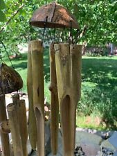 Large Stained Bamboo Wind Chimes Ship - Free From Usa