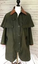 Mulberry Coat Jacket Sporting Pursuits Waxed Riding Drover Ladies Medium Green