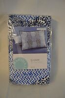 Martha Stewart Collection INDIGO DREAM Standard Pillow Sham Indigo Blue, White