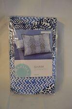 Martha Stewart Collection INDIGO DREAM Standard Pillow Sham Indigo Blue, White