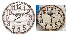 Orologio da parete effetto legno e ferro rotondo diametro 60 cm