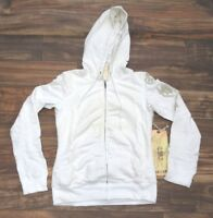 Da-Nang Surplus Women's Sweater Embroidered Hooded WHITE FTG22971546 X-SMALL XS