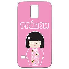 Coque 3 D Téléphone Personnalisée - SAMSUNG S5 -  Kokeshi poupée japonaise rose