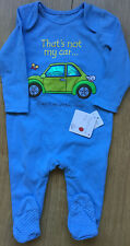 Mothercare Age 9-12 Months That's Not My Car Blue Baby Grow 🚙 BNWT 🚙